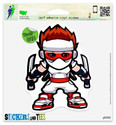 Amazon.com: Ninja Kid Cool Vinyl Car Bumper Window Sticker 3 ...