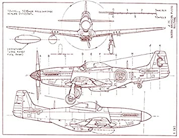 Amazon north american p 51d mustang blueprint poster north american p 51d mustang blueprint poster malvernweather Gallery