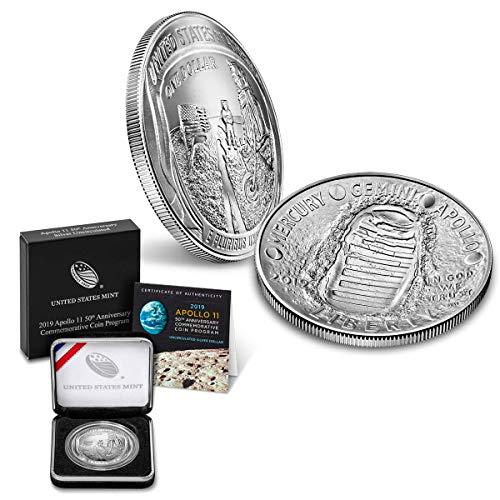 2019 P Apollo 11 50th Anniversary Commemorative Coin $1 Brilliant Uncirculated US Mint