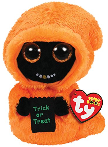- Ty Beanie Boos Grinner - Orange Ghoul w/Gold Tooth med