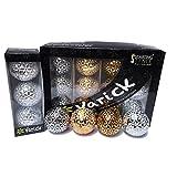 Varick Golf VB-C Golf Balls in Classic Colors (12), White/Gold/Silver/Black