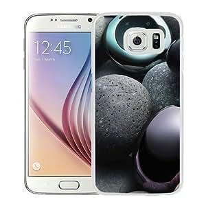 Fashionable Custom Designed Samsung Galaxy S6 Phone Case With MP3 Player Pebbles Music Lockscreen_White Phone Case Kimberly Kurzendoerfer