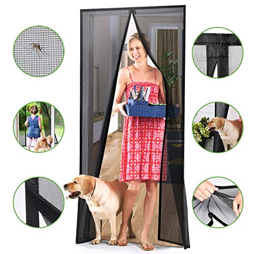 Homitt [Upgraded Version] Magnetic Screen Door with Durable Fiberglass Mesh