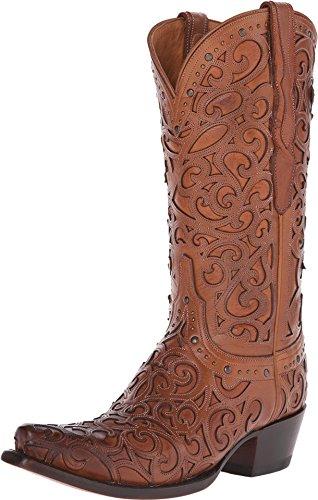 Lucchese Women's Handmade 1883 Sierra Cowgirl Boot Snip Toe Tan 8 M US