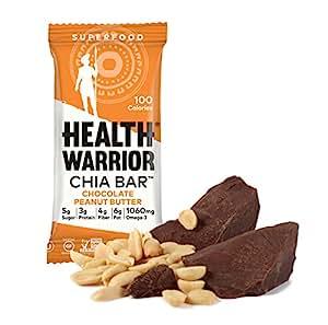 Health Warrior Chia Bars, Chocolate Peanut Butter, 5 Count