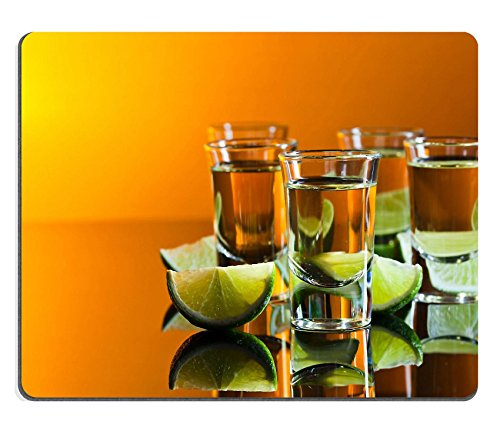 Qzone Mousepads tequila and lime on a black glass table Free space for the text from the right IMAGE 31540515 Customized Art Desktop Laptop Gaming mouse - Free Images Glasses