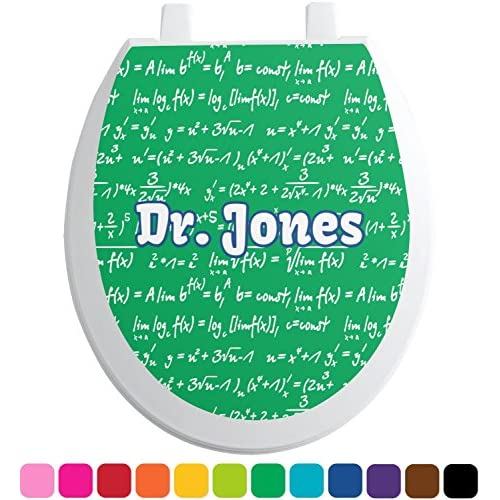 chic Equations Toilet Seat Decal - Round (Personalized)