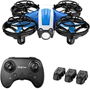 Holyton Mini Drone for Kids Beginners Adults, Hand Operated/Remote Control Quadcopter with 21Mins Flight Time,