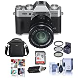 Fujifilm X-T20 24.3MP Mirrorless Digital Camera with XC 16-50mm f/3.5-5.6 OIS II Lens, silver - Bundle With camera Case, 16GB SDHC Card, 58mm Filter Kit, Cleaning Kit, Card Reader, Software Package