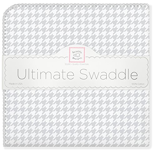 SwaddleDesigns Ultimate Swaddle Puppytooth Sterling