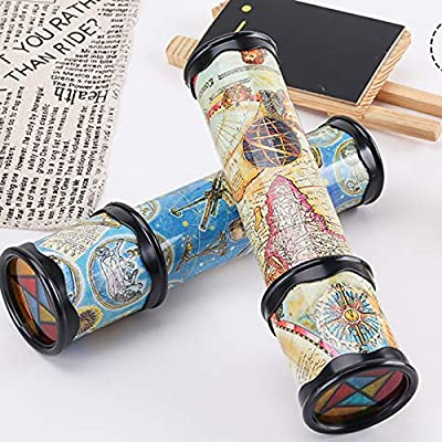 Taghua Magic Kaleidoscope Classic Toys, Old World 3D Mirror Lens Stretchable Kaleidoscope Toys for Kids Adults Educational Science Toy (Ramdom Color): Toys & Games