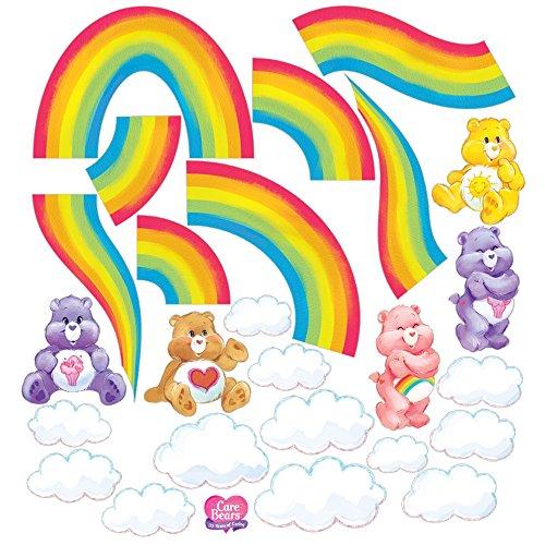 (Care Bears DIY Rainbow Large Wall Decal Set)
