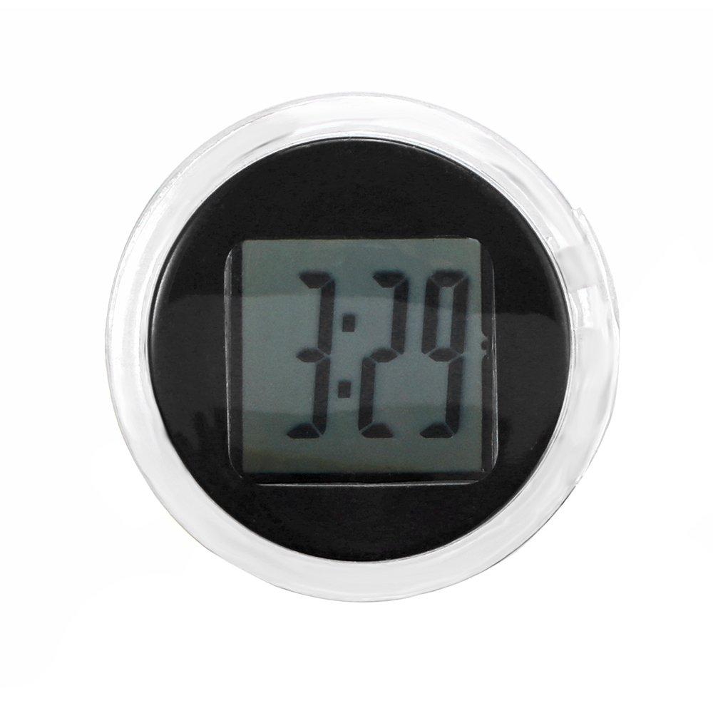 Universal Mini Motorrad Uhr Auto Uhr Wasserdicht Aufklebbarer Motorrad digital Uhr Dia. 2, 8 cm AOZBZ