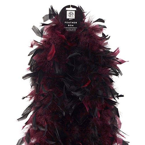 Chandelle Boas Tipped - Burgundy/Black by Zucker