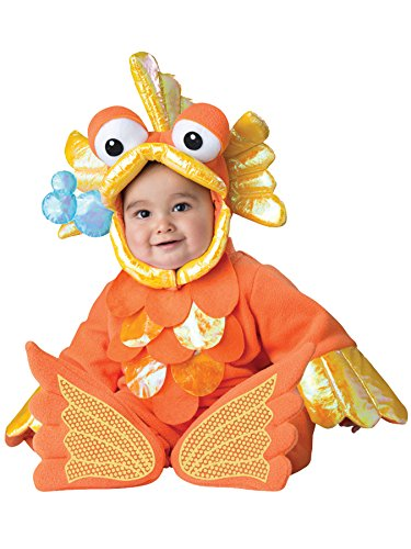 UHC Giggly Goldfish Jumpsuit Infant Toddler Funny Theme Halloween Costume, 12-18M (Kids Giggly Goldfish Costume)