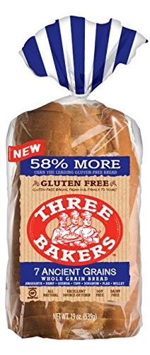Three Bakers 7 Ancient Grain Sliced Bread, Gluten Free, 19 oz (Grain Whole Free Bread Gluten)