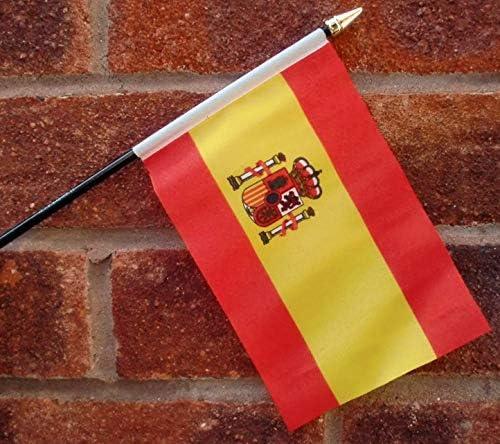 Bandera de España con Escudo del Estado 25 cm por 1000 Banderas: Amazon.es: Jardín