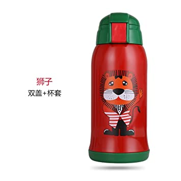 GRSB Botella,Termo 550 ML De Dibujos Animados De Animales De Doble Pared De Acero
