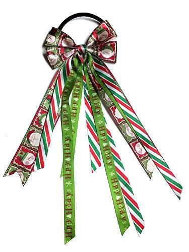 - Ponytail Streamer, Pony O, Ponytail Hair Streamer, Christmas Streamer, Christmas Ponytail Streamer (Scrunchie, Red/Green)