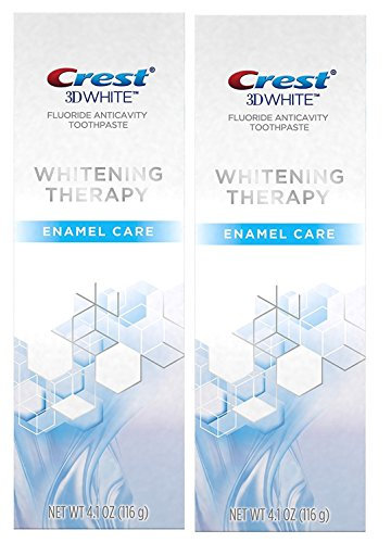 Crest 3D White Whitening Therapy Enamel Care Fluoride Anticavity Toothpaste 4.1 oz (Pack of 2) (Crest Whitening Fluoride Anticavity Toothpaste)