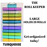 The Roll Keeper for Craft Vinyl- Diamond Painting-Hanging Storage-Craft Vinyl Storage-Turquoise Color-Holds 25 Rolls-Bundle and Save-651-Glitter-Holographic-Stabilizer-Deco Mesh-Htv-Hanging Storage
