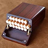 Cigarette Case Handmade Solid Wood Rosewood Can be Customized/Lettering, Contains Gift Box,12