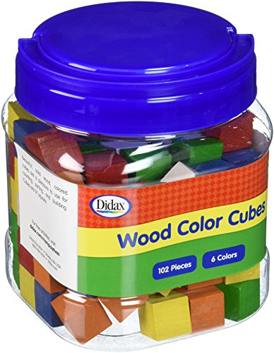 Didax Educational Resources Color Cubes, Wooden, 102 Pcs