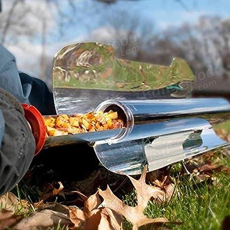 Bazaar Acampar horno de parrilla de barbacoa portátil estufa de la barbacoa calentador de comida de picnic charbroiler kebab asado solar: Amazon.es: ...