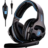 SADES SA810 Gaming Headset Over Ear Stereo Gaming Headphones Full Bass Wired 3.5MM Plug Volume Control with Microphone…