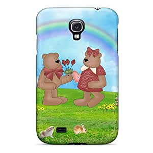 For Galaxy S4 Protector Case Rainbow Bears Phone Cover