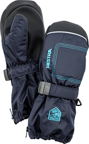 Hestra Mittens for Baby: Kids Zip Long Mitten with Primaloft Insulation, Dark navy, (Primaloft Insulation)