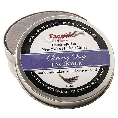 Taconic Shave Barbershop Quality Lavender Shaving Soap with Antioxidant-Rich Hemp Seed Oil by Taconic Shave