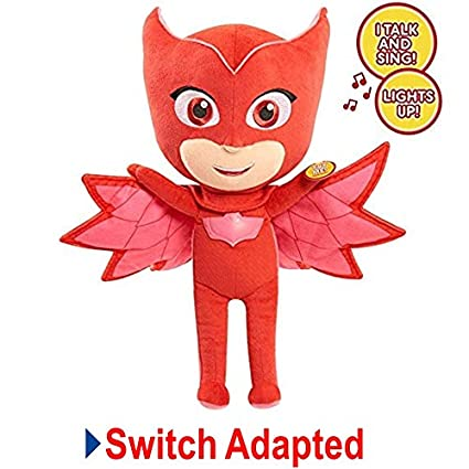 Switch Adapted Toy PJ Masks Sing and Talk Owlette Plush | Adaptive Toys | Special Needs