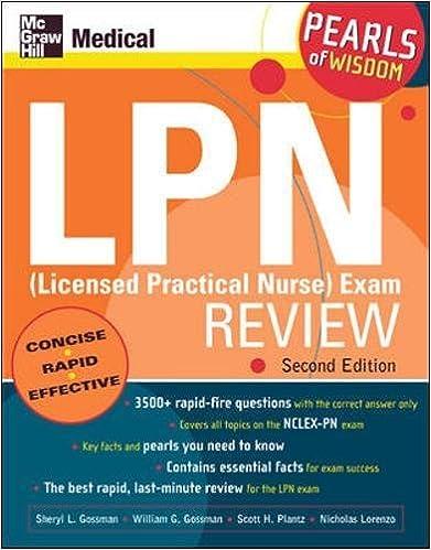 Lpn licensed practical nurse exam review pearls of wisdom lpn licensed practical nurse exam review pearls of wisdom second edition 2nd edition fandeluxe Images
