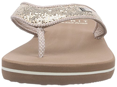 ESPRIT Damen Glitter Thongs Zehentrenner, Beige (295 Cream Beige), 37 EU