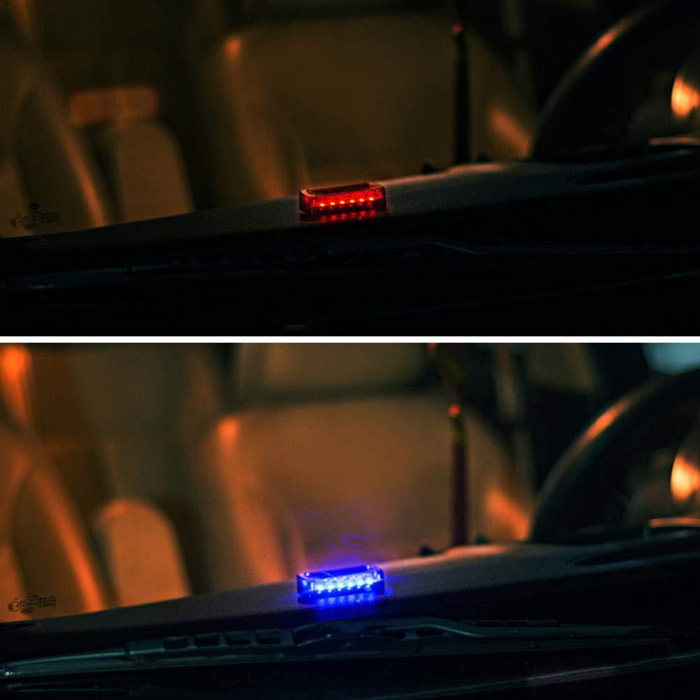 Generp Pratique 6 LEDs Clignotant S/écurit/é Voiture Solaire Solaire Simul/é Alarme Avertissement Strobe Light Anti-Theft Cosy