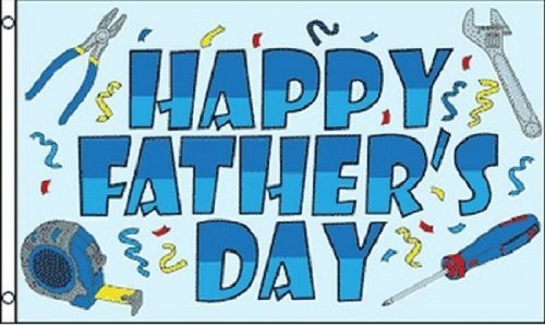 Happy Fathers Day Flag Party Banner Sign for Dad Large 3x5 Foot Indoor Outdoor ()
