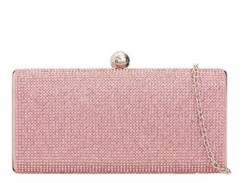 LeahWard® Sparkly 239 Women's Purse Clutch Handbags Bags Evening Pink 190 Evening Diamante YrwxOY