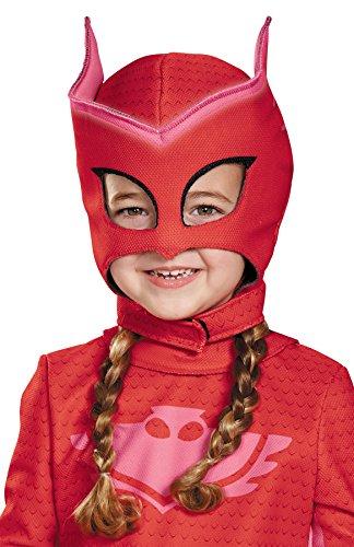 Dark Hockey Mask (Girl's PJ Superhero Owlette Deluxe Mask Child Halloween Costume Accessory)