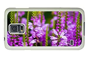 Hipster Samsung Galaxy S5 Case cassette delphinium flowers PC White for Samsung S5