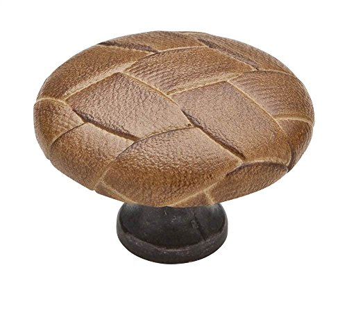 Cabinet Knob - 1 1/2'' Diameter - Covered Oil Rubbed Bronze - Turtle Finish (Set of 10) by Knobware