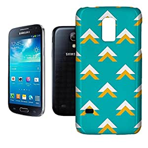 Phone Case For Samsung Galaxy S5 Mini - Geometric Abstract Triangles Teal Hard Glossy