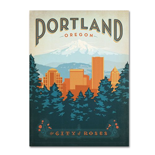 Trademark Fine Art Portland Artwork by Anderson Design Group, 24 by (Anderson Art Print)