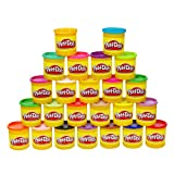 Toys : Play-Doh Modeling Compound 24-Pack Case of Colors (Amazon Exclusive), Non-Toxic, Assorted Colors, 3-Ounce Cans