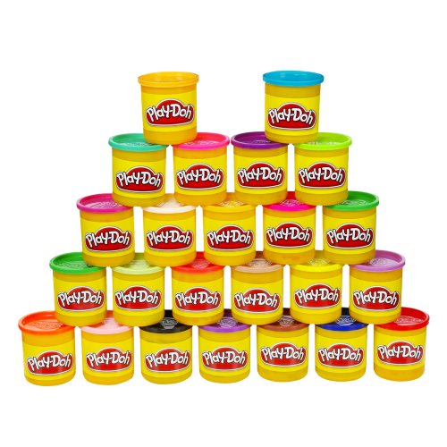 Play-Doh Modeling Compound 24-Pack Case of Colors, Non-Toxic, Multi-Color, 3-Ounce Cans, Ages 2 and up, Multicolor (Amazon Exclusive)]()