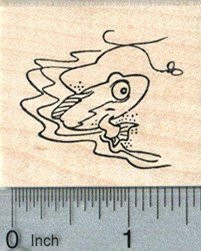 Fish Mudskipper (Mudskipper Rubber Stamp, Amphibious Fish, Science Series)