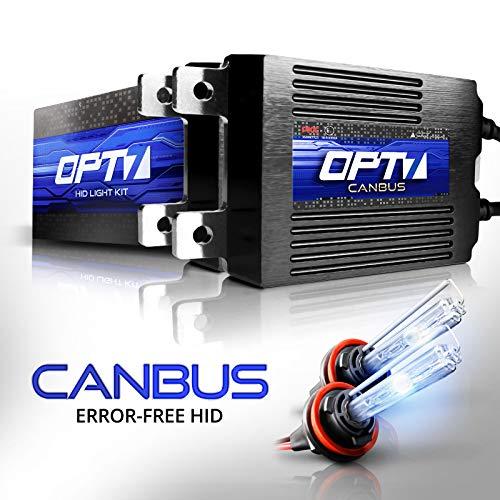 Hid Xenon Headlight Kit - OPT7 Boltzen AC CANbus H11 H8 H9 HID Kit - 5X Brighter - 6X Longer Life - All Bulb Sizes and Colors - 2 Yr Warranty [6000K Lightning Blue Xenon Light]