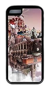 iPhone 5c case, Cute Cloudscape 5 iPhone 5c Cover, iPhone 5c Cases, Soft Black iPhone 5c Covers