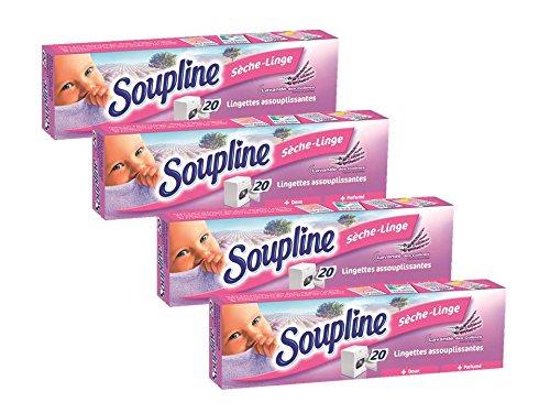 Toallitas para la secadora de lavanda de Soupline. 20 unidades. Juego de 4: Amazon.es: Salud y cuidado personal