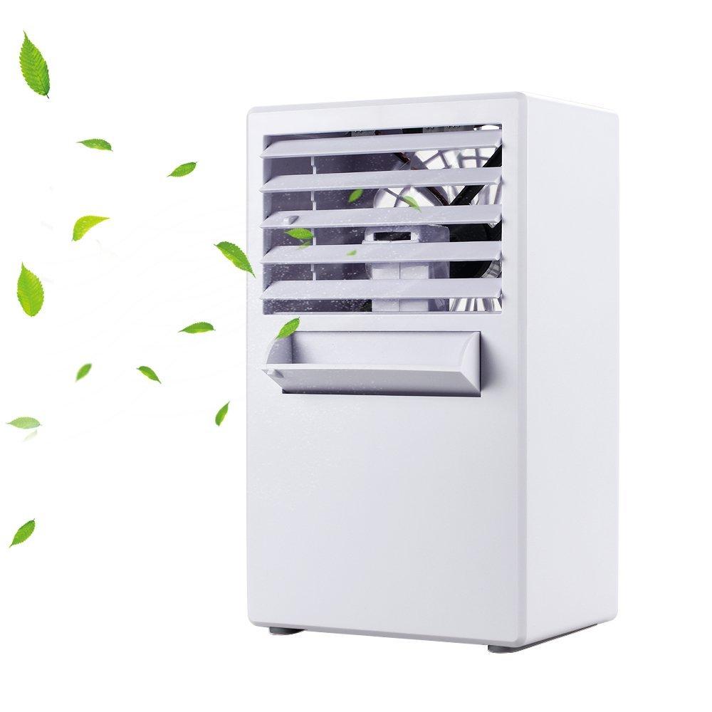 YOUDirect Portable Mini Air Conditioner Fan 9.5-inch - Small Desktop Fan Mini Evaporative Air Cooler Fan